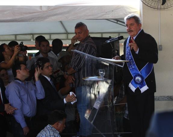 Luiz Inácio Lula da Silva durante discurso