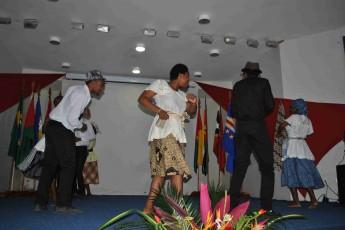 Apresentação cultural de São Tomé e Príncipe.
