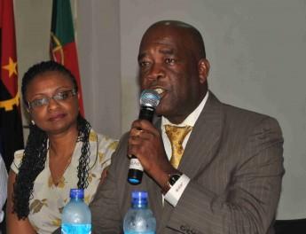 Maculo Afonso, representante do Ministério da Educação de Angola.