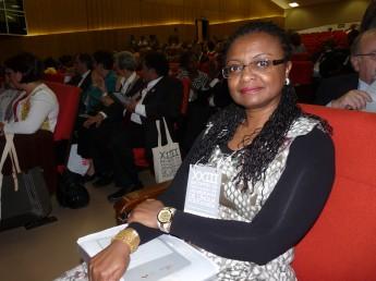 Reitora Nilma Gomes na solenidade