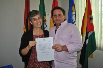 Núbia Moura e Fernando Afonso Ferreira, vice-reitor