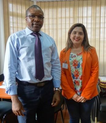 FAO - Castro Paulino Camarada (FAO Moçambique) e Maria Socorro Moura Rufino (Pró-reitora de Relações Institucionais)