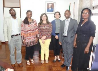 Universidade Eduardo Mondlane – Centro de Estudos Africanos, Armindo Ngunga (Diretor do Centro de Estudos Africanos), Nilma Lino Gomes (Reitora), Maria Socorro Moura Rufino (Proinst)