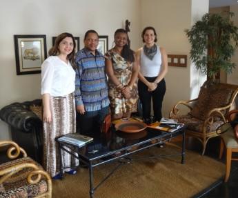 Zambeze - Bhangy Cassy (Reitor), Nilma Lino Gomes (Reitora), Maria Socorro Moura Rufino (Proinst), Mariana Horta