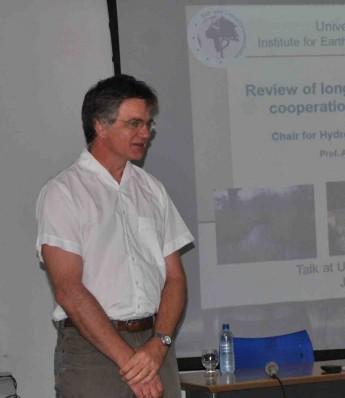 Professor da University of Potsdam, na Alemanha, Axel Bronstert, visita Unilab nesta terça-feira (03).