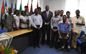 Reitor Jorge Ferrão e comunidade moçambicana da Unilab