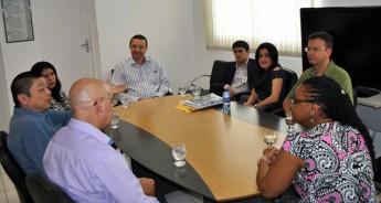 Reunião da reitora com os avaliadores do curso de Engenharia de Energias.