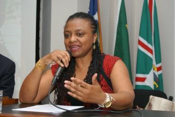 Nilma Gomes, durante um dos eventos acadêmicos da Unilab (Foto: Assecom/Unilab)
