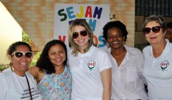 Integrantes da Pró-Reitoria de Extensão, Arte e Cultura (Proex) da Unilab. Rebeca Alcântara está do lado esquerdo.