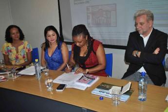Assinatura do acordo de cooperação entre a Unilab e Fundação Roberto Marinho.