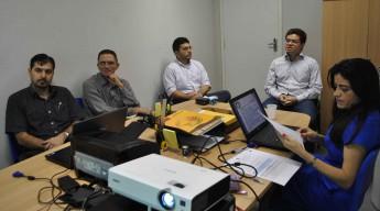 Reunião com os avaliadores ocorreu na manhã desta quinta-feira (11), na Unidade Acadêmica dos Palmares.