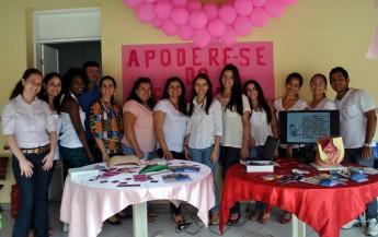 Profissionais da Cosbem, junto com estudantes do curso de Enfermagem e do Núcleo de Gênero de Sexualidade, desenvolveram a ação.