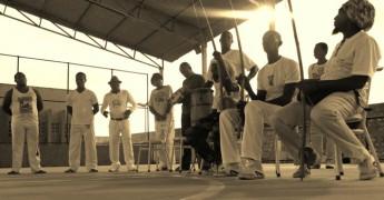 Roda de capoeira no final das atividades, no Campus dos Malês/BA