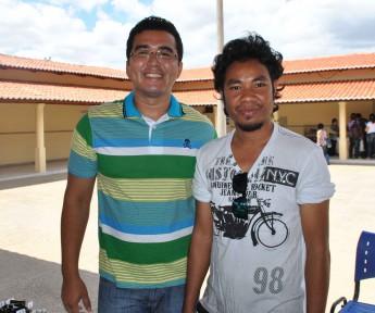 Estudantes do curso de Agronomia, Acácio de Sousa e Jorge Vital.