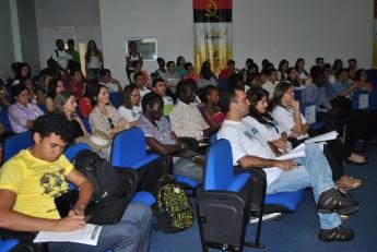 Participantes da mesa de abertura da I Semana Universitária.