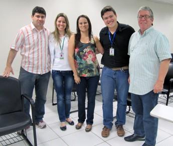 Comissão de Criação e Estruturação do Biotério da Unilab ao lado dodiretor do Nubex, Renato Moreira.