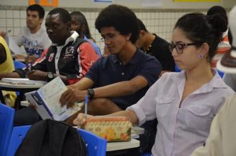 Salas de aulas que reúnem estudantes de várias nacionalidades (Foto: Assecom/Unilab)