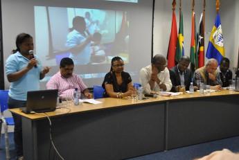 Representantes de países de língua portuguesa discutem na Unilab o tema da desertificação.