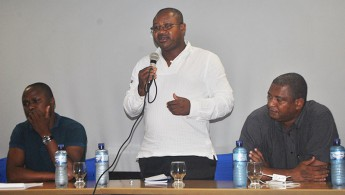 Professor Mário Caetano Brito fez uma breve apresentação sobre os atuais projetos de ensino e pesquisa da UPN
