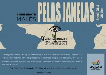 CINEDEBATE  MALÊS - PELAS JANELAS