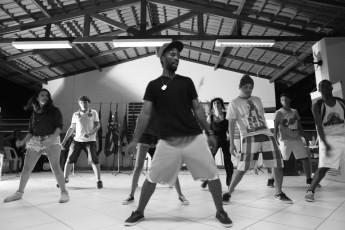 Oficina de Dança realizada durante a terceira edição do Ação Movimenta