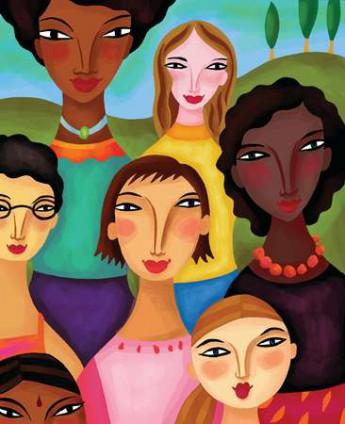 grupo de mulheres - ilustração