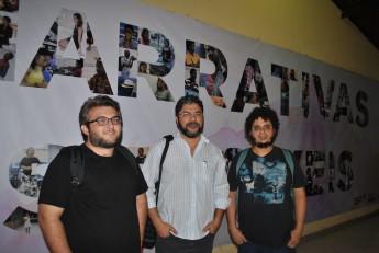 Cineastas Danísio Magalhães, Duarte Dias e Arnaldo Formiga