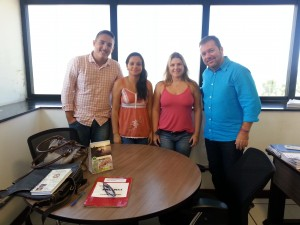 Madre de Deus – da esquerda para a direita: Carlos André Moura Barros (Proinst – CE), Lucineide Santos (Proinst BA), Luciana Shardong (Proinst BA) e Luciano Bordone (Chefe de Gabinete).