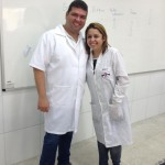Prof. João Paulo da EEEM Camilo Brasiliense e Técnica do ICENUnilab Ana Kathia Braz