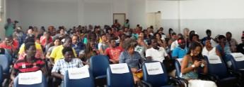 Público presente na posse