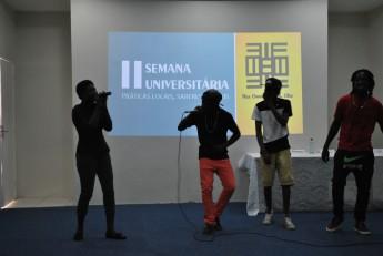 Apresentação do grupo de Hip Hop A.Se.Front. Foto: Assecom/Unilab.