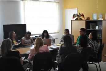 Reunião entre comitiva de São Francisco do Conde/BA, reitor da Unilab, Tomaz Mota Santos, e comissão de implantação do curso de Medicina no Ceará. Foto: Assecom/Unilab.