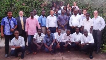 Equipe que participou da aplicação da prova em Guiné-Bissau.