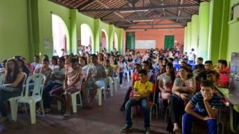 Plateia atenta à palestra. Foto: Unilab.