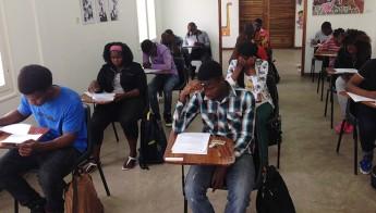 Aplicação da prova aos candidatos moçambicanos.