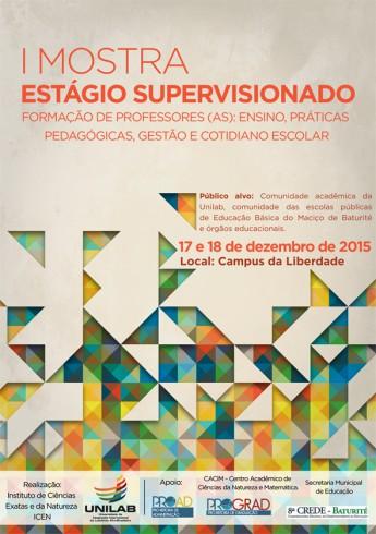 cartaz mostra estagio supervisionado ICEN
