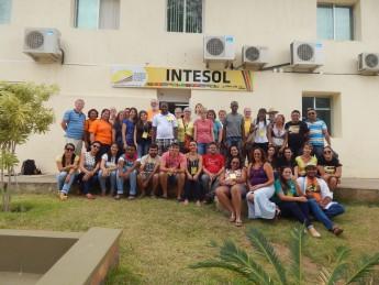 Membros do Grupo da Obra Kolping e da incubadora Intesol durante troca de experiências na Unilab. Foto: Unilab.