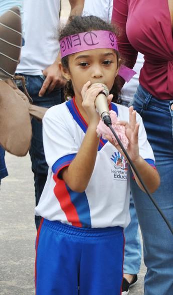 Maria Letícia, estudante da creche Francisca de Arruda Pontes.