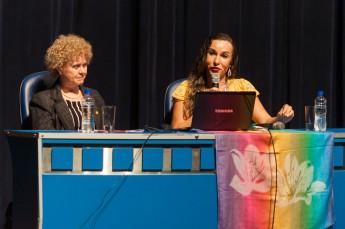 Professora Luma Andrade profere aula magna na UFSC. Foto: Henrique Almeida/Agecom/DGC/UFSC