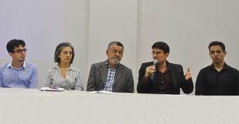 Pró-reitor de Políticas Afirmativas e Estudantis da Unilab, Alexandre Cunha, participa do lançamento do SAE. Foto: Assecom/Unilab.