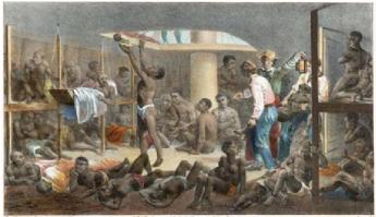 Navio Negreiro. Rugendas. 1830