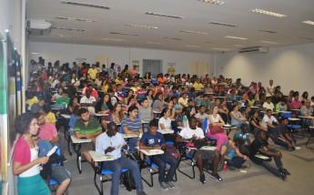 Auditório I do Campus das Auroras da Unilab durante a programação da Semana dos Alimentos Orgânicos.