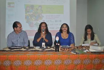 Da esquerda à direita: Regivaldo Freires , Clébia Freitas, Rita de Cássia Lima e Ana Paula Caiado.
