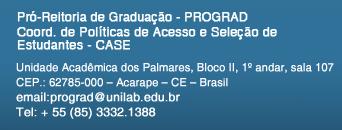 Informações Pró-Reitoria de Graduação – Prograd