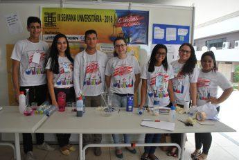 Estudantes do Centro Acadêmico (C.A.) do Curso de Química da Unilab.