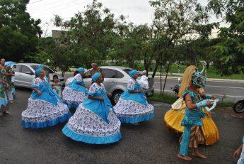 Grupo Afoxé Omõrisá Odé, do bairro Bom Jardim da Grande Fortaleza/CE.
