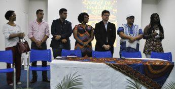 Integrantes da mesa de abertura da IV Conferência Estadual de Promoção da Igualdade Racial, etapa Macrorregional do Maciço de Baturité.