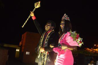 Celso Branquinho e Domingas da Silva, vencedores do Mister & Miss Unilab 2017.