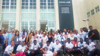 Equipe envolvida na IV Semana Universitária no Campus dos Malês/BA.