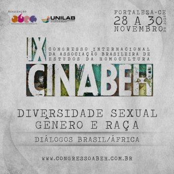 """""""Diversidade sexual, gênero e raça: diálogos Brasil-África"""" é o tema do IX CINABEH; inscrições abertas"""